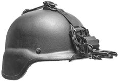 Low-Profile Flip-Up Helmet Mount GSCI HM-714LP-C with Straps. Lightweight Aluminum, extra Durable. Available PVS and Dovetail type brackets.