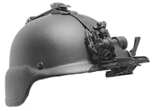 Advanced Flip-Up Helmet Mount GSCI HM-714XM-C with Straps. Lightweight and Durable, available PVS and Dovetail type brackets. Flip-Up off.