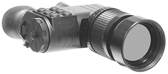 Long-Range Thermal Binoculars GSCI UNITEC-B75. Canadian, ITAR-Free, exportable worldwide. 640x480 and 384x288 FPA @ 50Hz. Lens size 75mm.